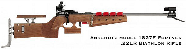 Anschutz 1827 fortner straight pull biathlon action