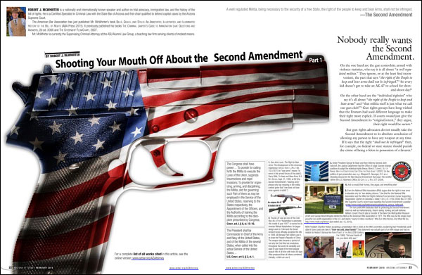 History Second Amendment Arizona McWhiter Law