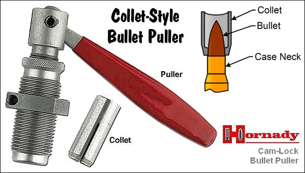 Collet Bullet Puller Hornady RCBS Press Mount Reloading