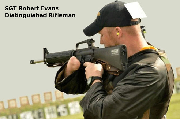 SGT Robert Evans distinguished rifleman wounded warrior