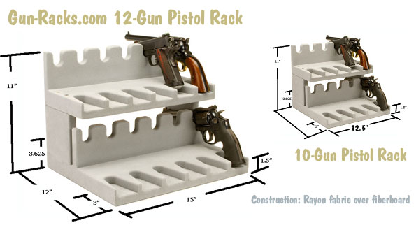 handgun two-level safe rack