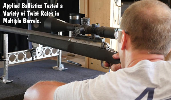 applied Ballistics Barrel Twist rate velocity testing test bryan Litz