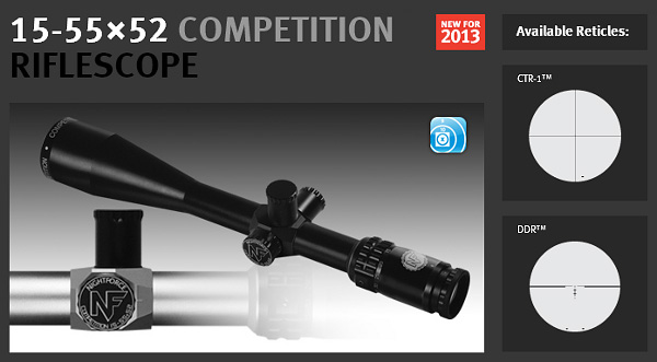 Nightforce Competition 15-55x52mm scope