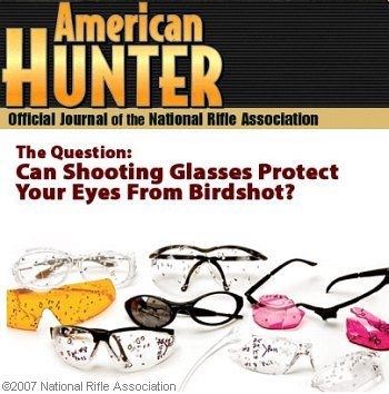 shooting glasses safety tests birdshot