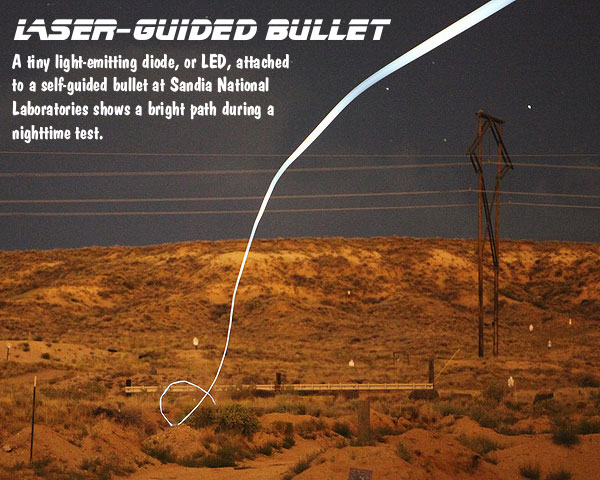Sandia Labs, laser-guided bullet