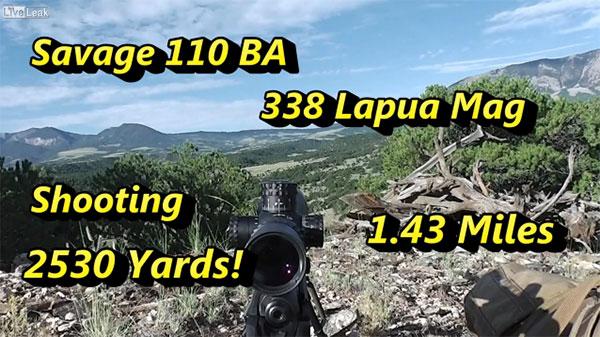 Savage 110 BA .338 Lapua Magnum Berger Hybrid Bullets