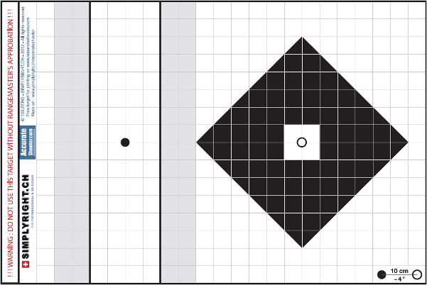 This is a picture of Printable Zeroing Targets for full page