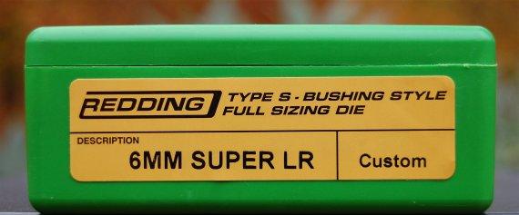 Super 6mm LR Redding Dies