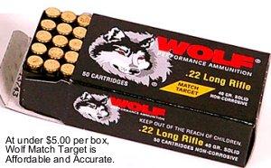 Wolf match target ammo