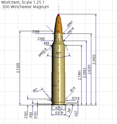 300 Win Mag diagram