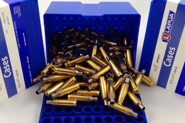 6.5x47 Lapua blue box brass