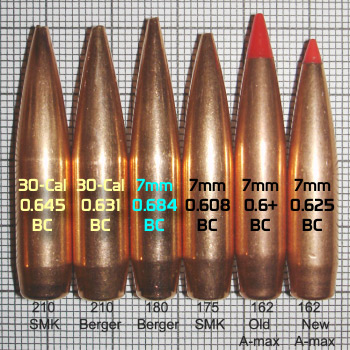 7mm 30-caliber BC bullets