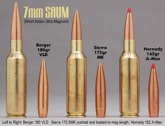 7mm Rem SAUM 180 Berger 175 Sierra 162 A Max