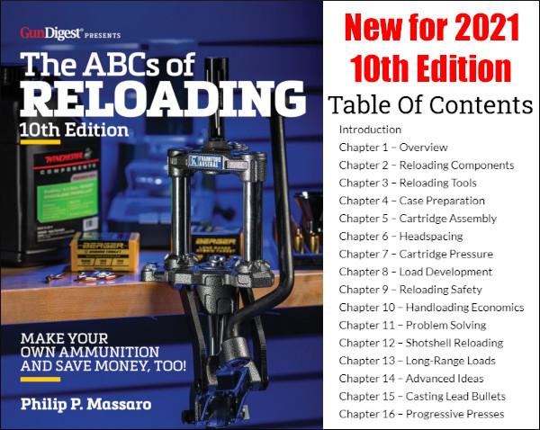 ABCs of Reloading 10th Edition Phil Massaro Gun Digest