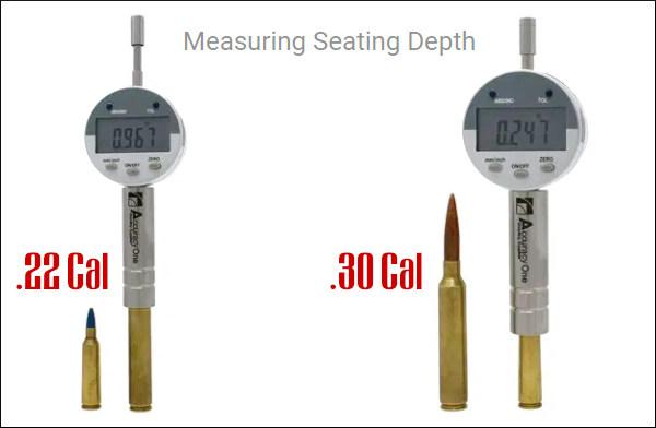 Accuracy One Seating Depth Comparator gauge ogive shoulder measure reloading ammunition case