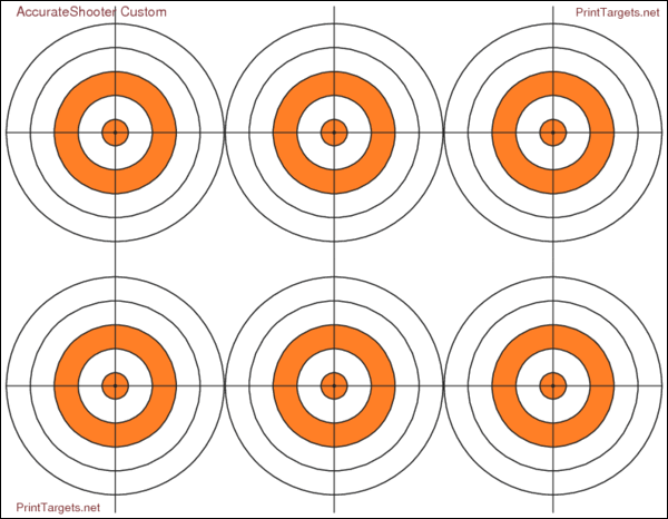 Custom AccurateShooter Bullseye target Printtargets.com