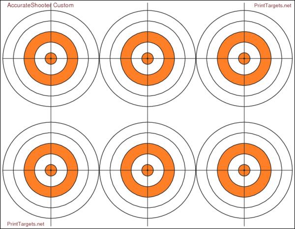 Custom AccurateShooter Bullseye target Printtargets.com