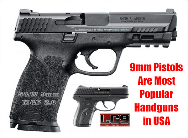 Pistol Production usa decade 2010 2020 ATF 9mm Luger 9x19mm handguns statistics Smith Wesson Sig Sauer