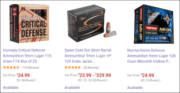 MidwayUSA 9mm defense 9x19mm luger ammunition ammo in stock