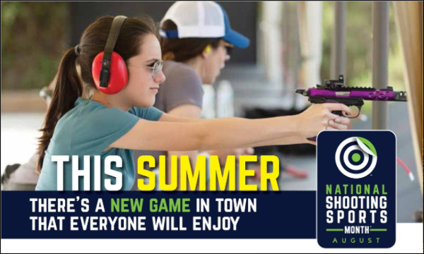 NSSM August Shooting sports month NSSF gear giveaway contest packages SIG Glock RCBS Mossberg