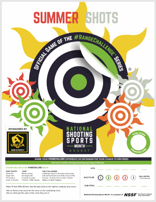 NSSM August Shooting sports month NSSF gear free target contest