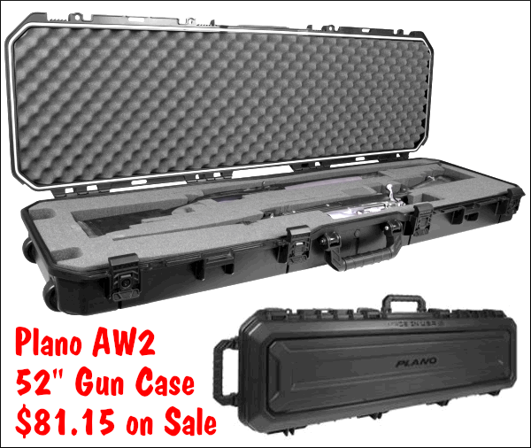 Plano aw2 all weather 2-gun rifle case hard case FAA