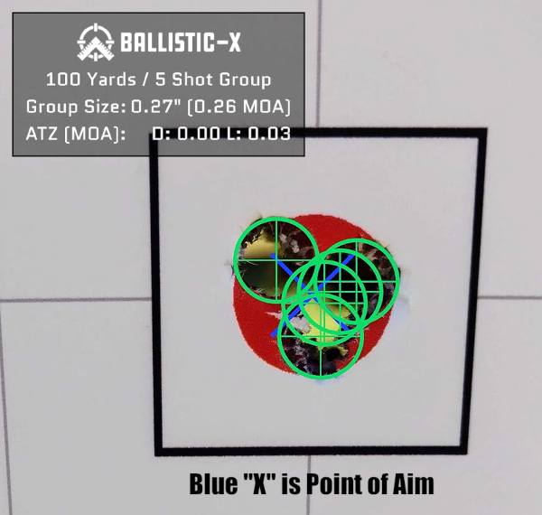 Ballistic-X group measure measuring plot software Android Apple iOS
