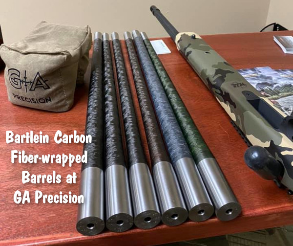 Bartlein carbon carbon-wrapped barrel contour GA Precision tactical hunting barrels