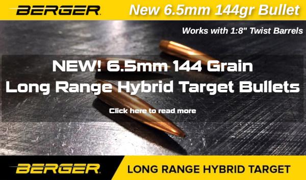 New berger 109 grain hybrid bullet LRHT long range hybrid target