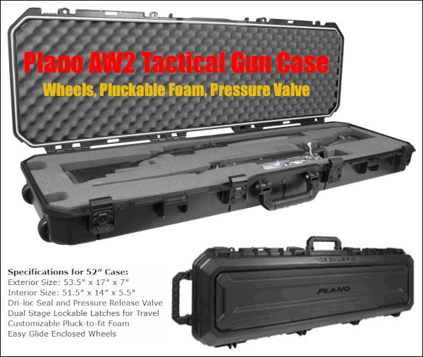 firearms gun transport case all weather waterproof airline approved