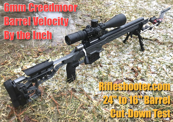 6mm 6.5 Creedmoor rifleshooter.com Bill Barr barrel length cut-down velocity test chronograph Magnetospeed chrono