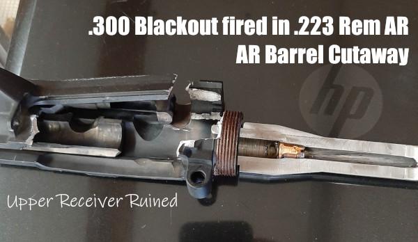 .300 AAC Blackout 300 BLK kaboom accident blowup cartridge failure barrel .223 Rem 5.56