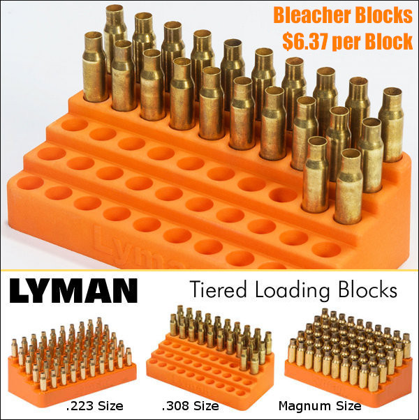 Lyman Bleacher Block stepped cartridge holder
