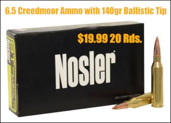 nosler 6.5 creedmoor ammo ammunition ballistic tip