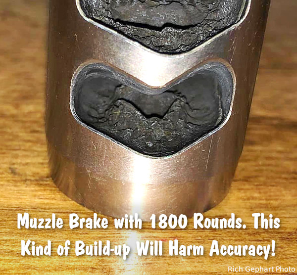 barrel cleaning muzzle brake break device port carbon removal