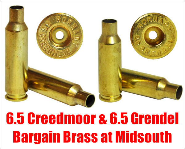 Cheap 6.5 Grendel Brass 6.5 Creedmoor CM 65 six five hornady