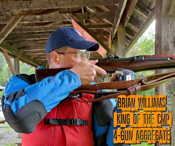 Brian Williams M1 Garand M1903 springfield .30-06 M1 Carbine CMP Modern Military 4-Gun 3-Gun