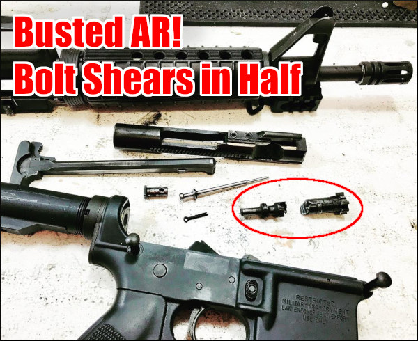 AR15 AR-15 Bolt failure Broken AR Bolt Police Department