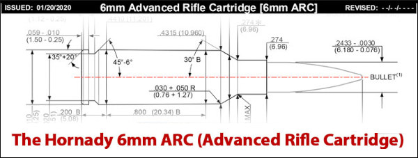 6mm ARC brownells bolts cartridge loaded ammunition hornady