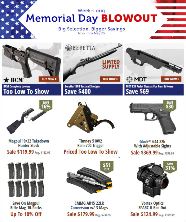 Brownells Memorial Day Sale 2020 May