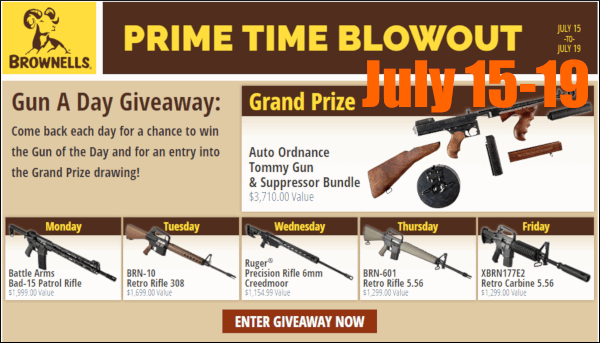 Brownells rifle contest giveaway prime blowout sale