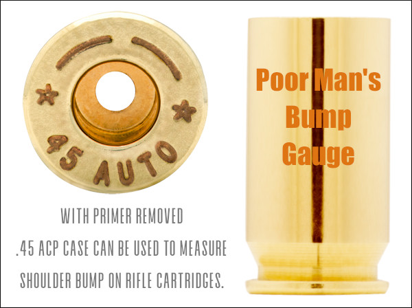 .45 acp pistol case bump gauge headspace tool