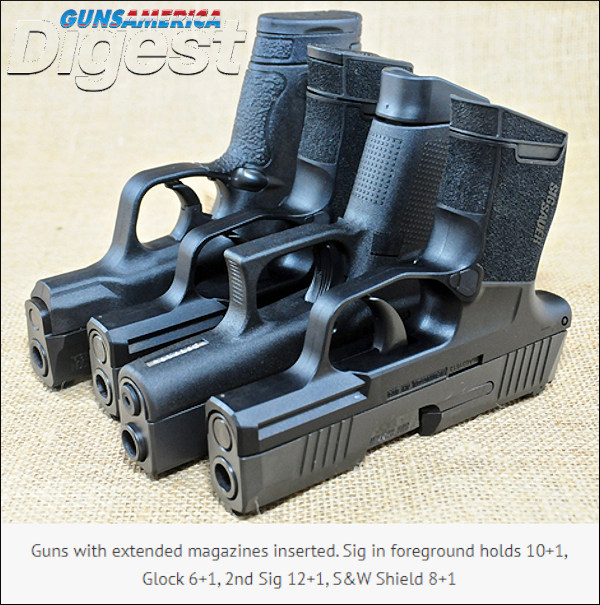 Sig P365 Glock 43 Smith Wesson Shield 9mm 9x19mm luger pisto