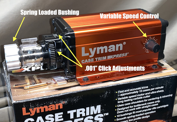 Lyman case trim xpress trimmer brass cartidge should indexing adjustable trimming