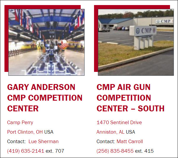 CMP's South Competition Center Alabama North Competition Center Ohio Covid-19 reopen