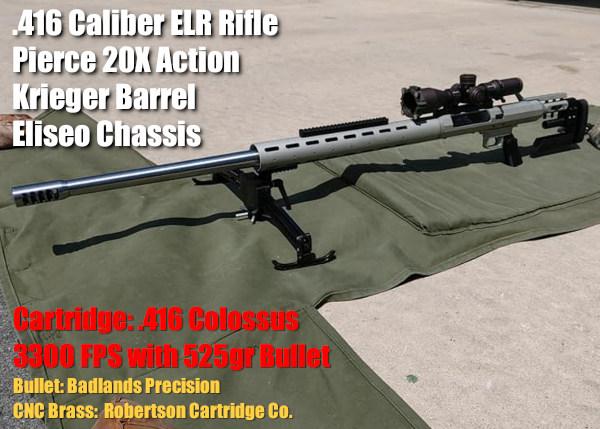 ELR john pierce colossus .416 barrett RCC Robertson brass Badlands precision Eliseo competition machine