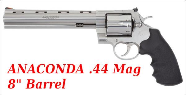 Colt Anaconda revolver wheelgun .44 Mag Magnum stainless steel snake 6
