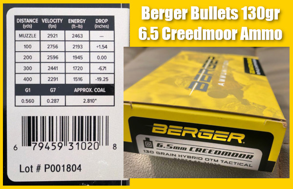 Erik Cortina Berger Factory ammo ammunition OTM tactical PRS rifle MPA chassis Lapua brass