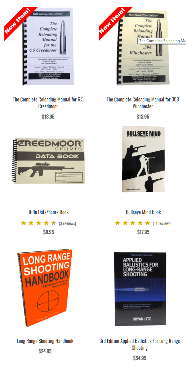Creedmoor Sports books title sale discount