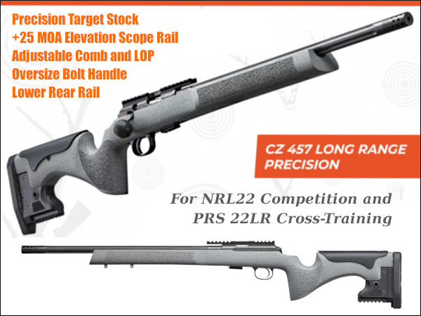 CZ 456 long range precision LRP tactical PRS NRL22 rimfire .22 LR 22LR rifle